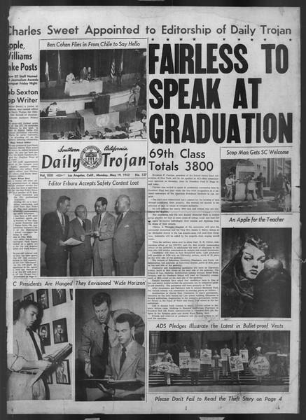 Daily Trojan, Vol. 43, No. 137, May 19, 1952