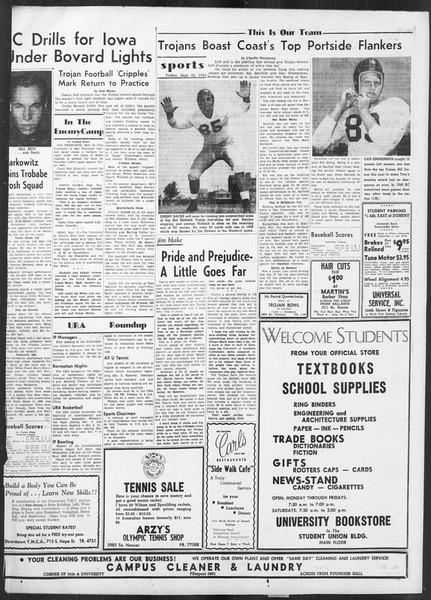 Daily Trojan, Vol. 42, No. 5, September 22, 1950