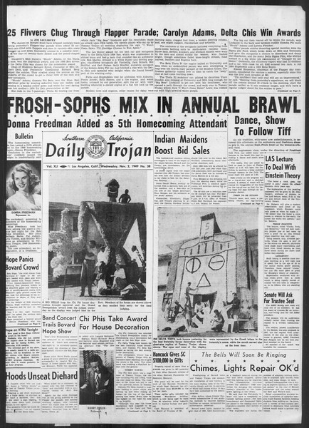 Daily Trojan, Vol. 41, No. 38, November 02, 1949