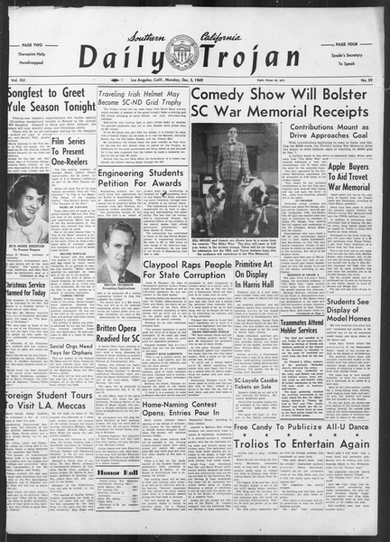 Daily Trojan, Vol. 41, No. 59, December 05, 1949
