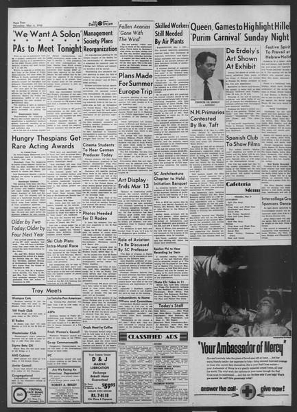 Daily Trojan, Vol. 43, No. 90, March 06, 1952
