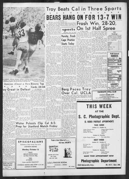 Daily Trojan, Vol. 42, No. 21, October 16, 1950