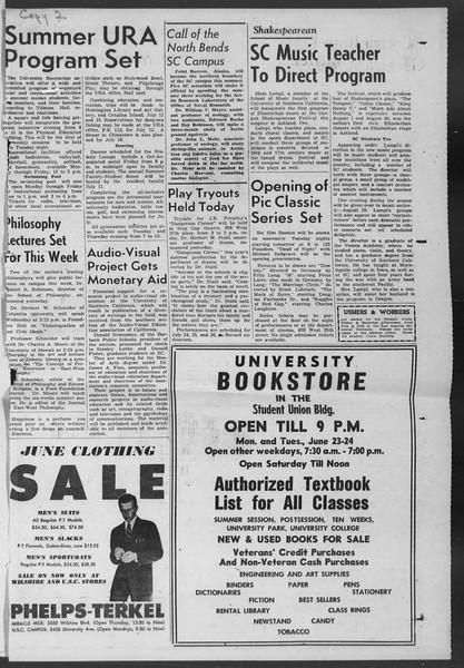 Summer News, Vol. 7, No. 1, June 23, 1952