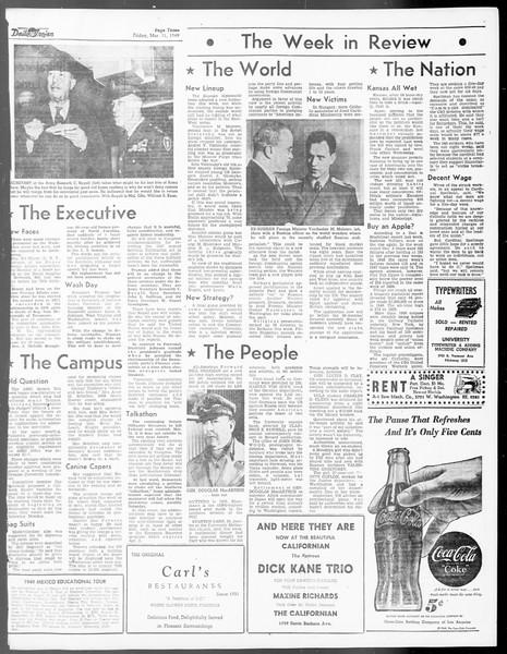 Daily Trojan, Vol. 40, No. 96, March 11, 1949