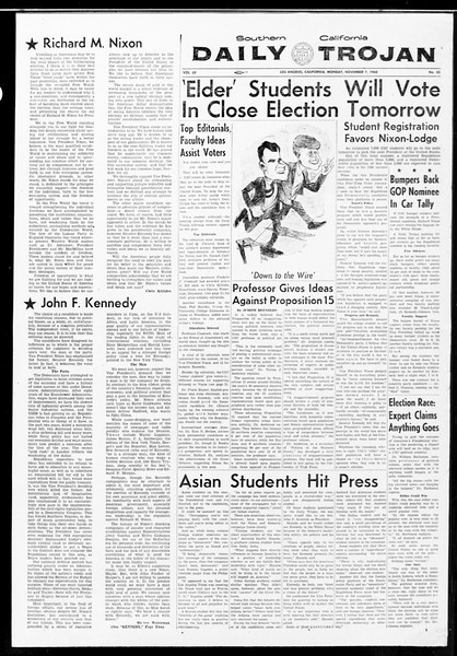Daily Trojan, Vol. 52, No. 35, November 07, 1960