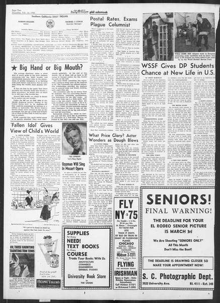 Daily Trojan, Vol. 41, No. 77, February 16, 1950