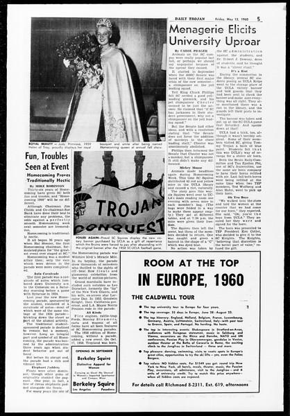 Daily Trojan, Vol. 51, No. Year End Edition, May 13, 1960