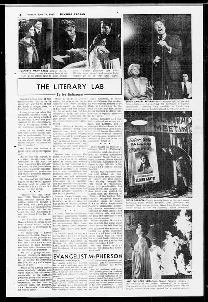 Summer Trojan, Vol. 10, No. 2, June 23, 1960