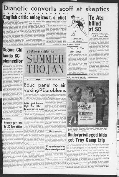 Summer Trojan, Vol. 5, No. 15, August 18, 1950