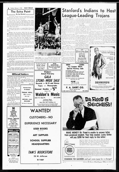 Daily Trojan, Vol. 52, No. 65, February 07, 1961