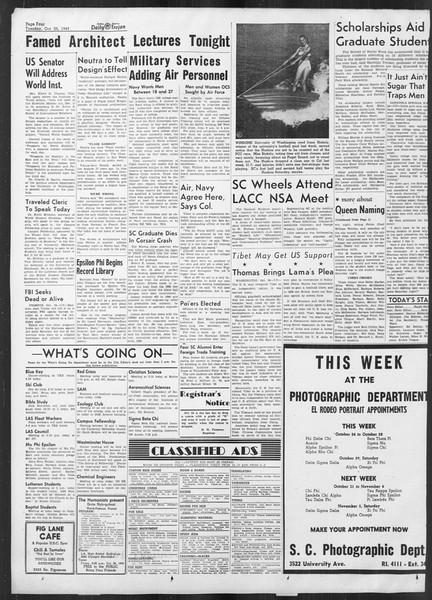 Daily Trojan, Vol. 41, No. 32, October 25, 1949