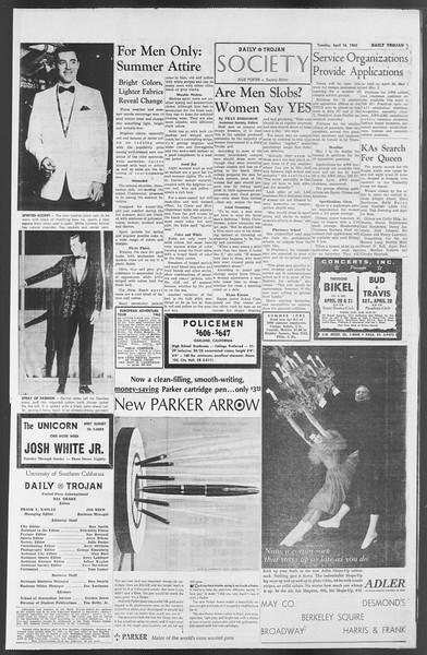 Daily Trojan, Vol. 54, No. 98, April 16, 1963