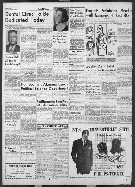 Daily Trojan, Vol. 44, No. 30, October 24, 1952
