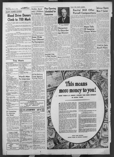 Daily Trojan, Vol. 44, No. 38, November 05, 1952