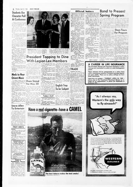 Daily Trojan, Vol. 51, No. 107, April 21, 1960