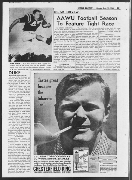 Daily Trojan, Vol. 54, No. 1, September 17, 1962