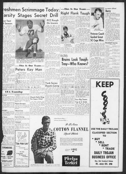 Daily Trojan, Vol. 42, No. 7, September 26, 1950