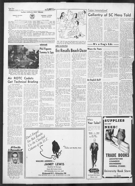 Daily Trojan, Vol. 41, No. 114, April 13, 1950