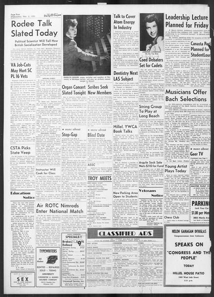 Daily Trojan, Vol. 41, No. 90, March 08, 1950