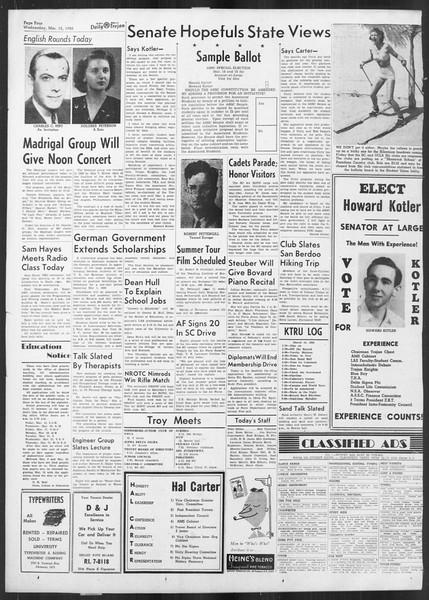 Daily Trojan, Vol. 41, No. 95, March 15, 1950