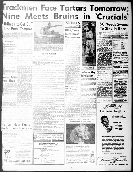 Daily Trojan, Vol. 40, No. 116, April 08, 1949