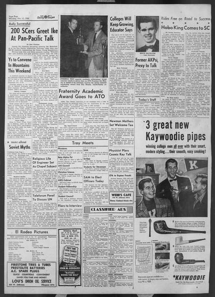 Daily Trojan, Vol. 44, No. 21, October 13, 1952