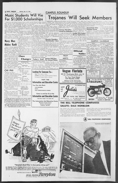 Daily Trojan, Vol. 54, No. 64, February 18, 1963