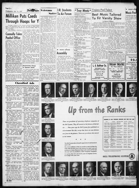 Daily Trojan, Vol. 38, No. 124, April 30, 1947