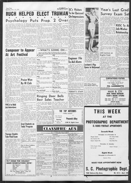 Daily Trojan, Vol. 41, No. 47, November 15, 1949
