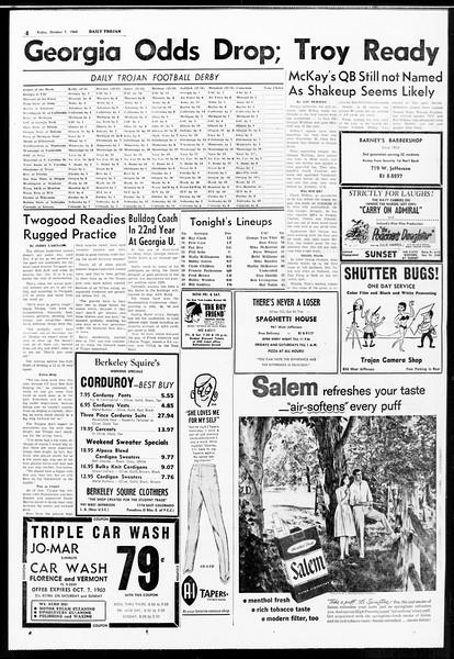 Daily Trojan, Vol. 52, No. 15, October 07, 1960