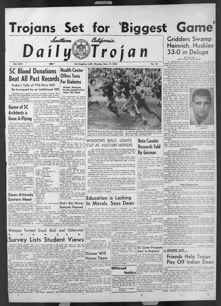 Daily Trojan, Vol. 44, No. 45, November 17, 1952