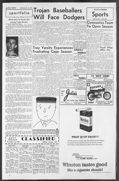 Daily Trojan, Vol. 54, No. 61, February 13, 1963