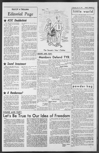 Daily Trojan, Vol. 54, No. 71, February 27, 1963
