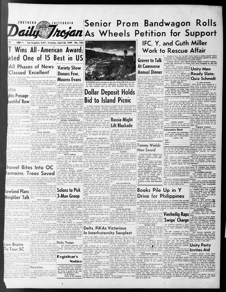 Daily Trojan, Vol. 40, No. 126, April 26, 1949