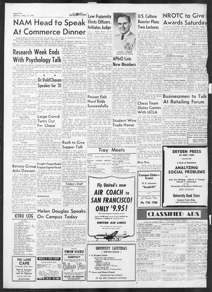 Daily Trojan, Vol. 41, No. 137, May 16, 1950