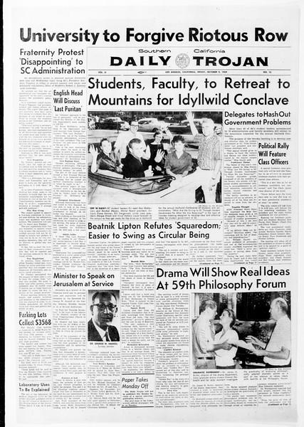 Daily Trojan, Vol. 51, No. 15, October 09, 1959