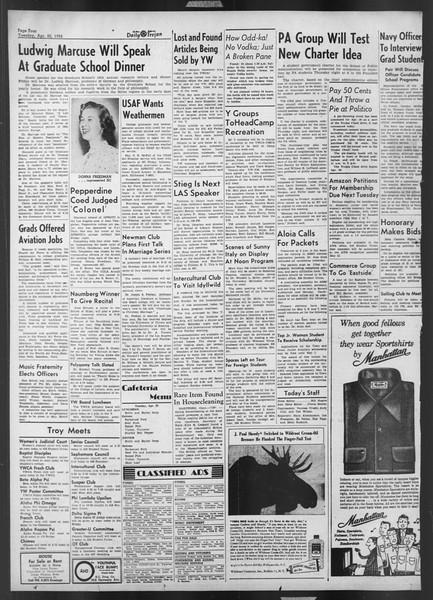 Daily Trojan, Vol. 43, No. 118, April 22, 1952