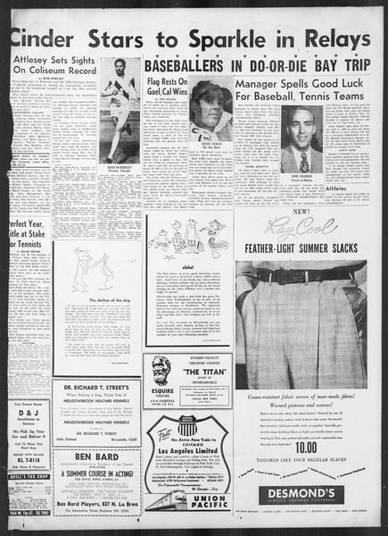 Daily Trojan, Vol. 41, No. 140, May 19, 1950