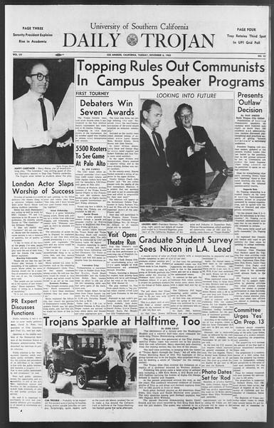 Daily Trojan, Vol. 54, No. 31, November 06, 1962
