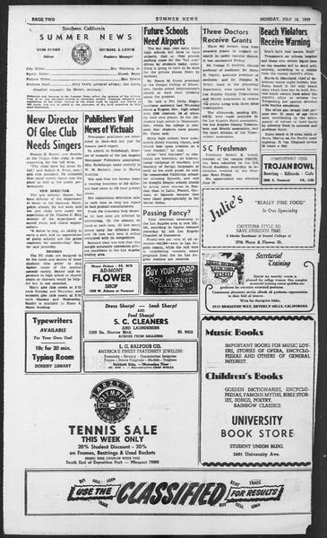 Summer News, Vol. 4, No. 11, July 18, 1949