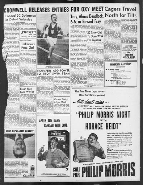 Daily Trojan, Vol. 39, No. 87, February 26, 1948