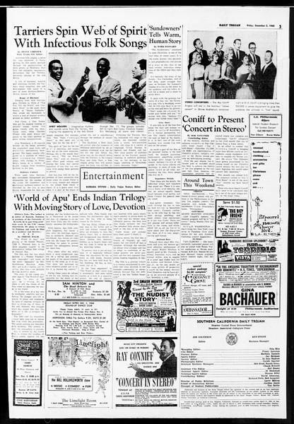 Daily Trojan, Vol. 52, No. 51, December 02, 1960