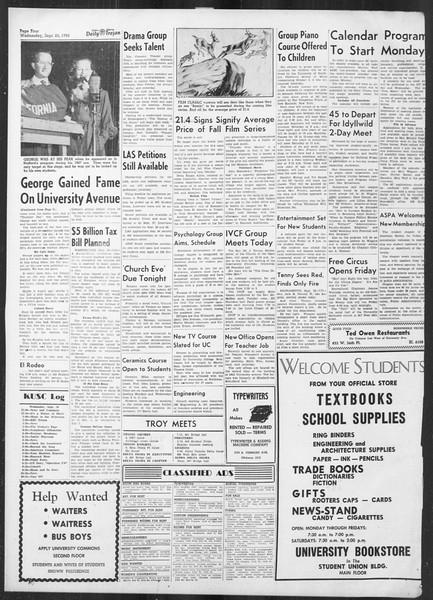 Daily Trojan, Vol. 42, No. 3, September 20, 1950
