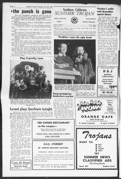Summer Trojan, Vol. 5, No. 8, July 25, 1950