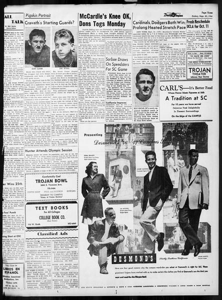 Daily Trojan, Vol. 38, No. 5, September 20, 1946