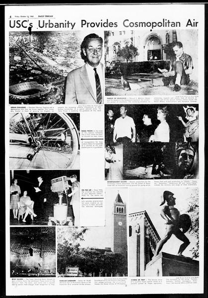 Daily Trojan, Vol. 52, No. 20, October 14, 1960