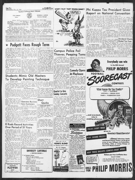 Daily Trojan, Vol. 41, No. 24, October 12, 1949