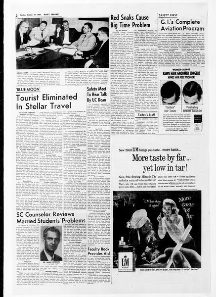 Daily Trojan, Vol. 51, No. 20, October 19, 1959