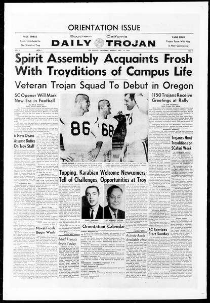Daily Trojan, Vol. 51, No. 1, September 14, 1959