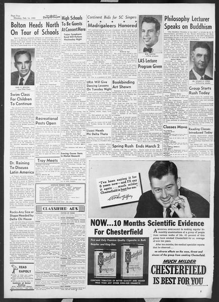 Daily Trojan, Vol. 44, No. 75, February 16, 1953